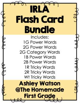 IRLA Flash Card Bundle (Levels 1G, 2G, 1B, 2B, 1R, 2R, and Wt)