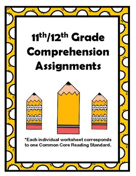 11th/12th CCSS Comprehension Assignments (Aligned to American Reading Co IRLA)