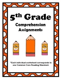 5th Grade CCSS Comprehension Assignments (Aligned to Ameri