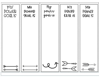 IRLA Power Goal Bookmarks