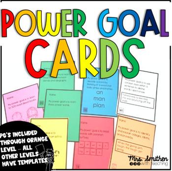 IRLA Power Goal Cards (RTM Level through 2R Level)