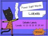 IRLA Aligned Sight Word Editable Label Template FREEBIE