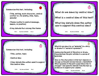 6th Grade Comprehension Task Cards Aligned to American Reading Company