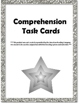 9th & 10th Grade Comprehension Task Cards Correlated to American Reading Co IRLA