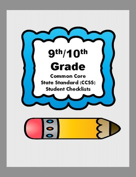 9th/10th Grade CCSS Student Checklists (Correlated to American Reading Co IRLA)