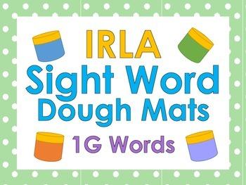 IRLA Sight Word Dough Mats - 1G Words