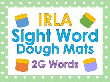 IRLA Sight Word Dough Mats - 2G Words