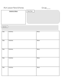IRLA Small Group Lesson Plan Template