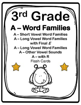 3rd Grade A-Word Families Flash Cards (Aligned to American Reading Co IRLA)
