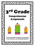 3rd Grade CCSS Comprehension Assignments (Correlated to Am