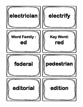 3rd Grade E-Word Families Flash Cards (Aligned to American Reading Co IRLA)