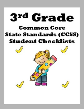 3rd Grade CCSS Student Checklists (Correlated to American