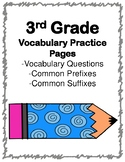 3rd Grade Vocabulary Practice Pages (Aligned to American R