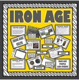 IRON AGE TEACHING RESOURCES HISTORY KEY STAGE 2 TOOLS WEAPONS DISPLAY METALS