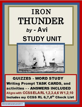 IRON THUNDER by Avi - Study Unit with Quizzes and more