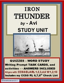 IRON THUNDER by Avi - Quizzes, Word Study and more