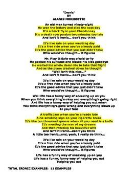 IRONY (GRADES 8 - 12)