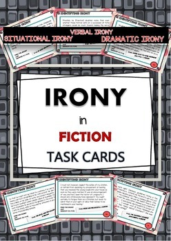 IRONY IN FICTION - 20 TASK CARDS