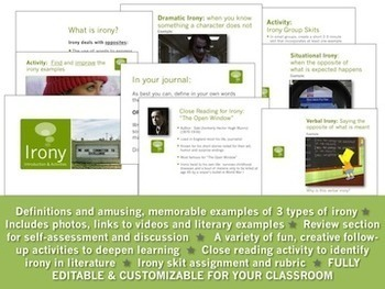 IRONY:  Introduction PowerPoint & Activities Bundle