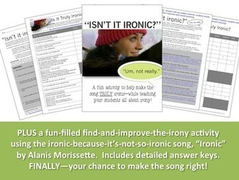 IRONY:  Introduction PowerPoint & Activities