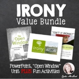 IRONY VALUE BUNDLE: PowerPoint, Close Reading Unit & Activities