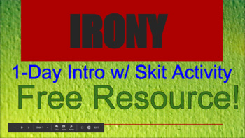 IRONY Presentation w/ Skit Activity **FREE**