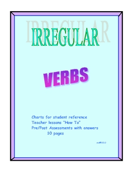 IRREGULAR PAST AND PARTICIPLE FORMS OF VERBS