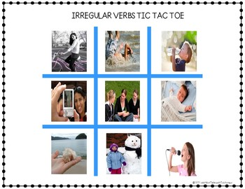 IRREGULAR PAST TENSE VERBS- with REAL PICTURES