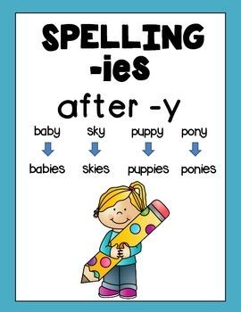 Irregular Plural Nouns -ies