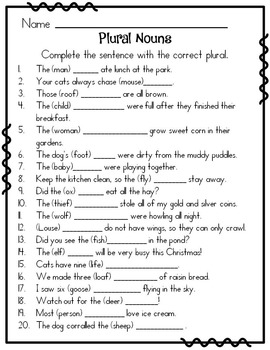 Fruit And Vegetables Activities Fun Activities Games Picture Dictionaries likewise Eb B C Ef Ed A Easter Worksheets Writing Lessons as well Original together with Plural Nouns as well Free Printable Irregular Plural Worksheets. on plural nouns worksheet second grade