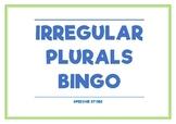 IRREGULAR PLURALS BINGO (SPEECH THERAPY/LANGUAGE)