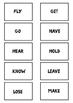IRREGULAR VERBS FLASHCARDS (BLACK & WHITE)