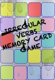 Regular & Irregular Verbs Memory Card Game