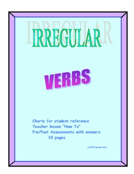IRREGULAR VERBS PAST AND PARTICIPLE FREE SAMPLE