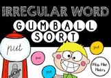 IRREGULAR WORD GUMBALL MACHINE SORT SYNTHETIC PHONICS GAME