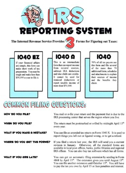 IRS Reporting System Lesson