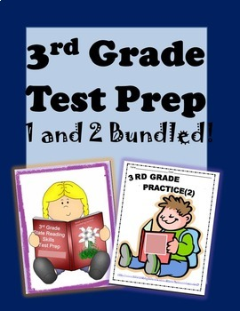 3rd Grade State Testing Preparation Bundle 1 and 2