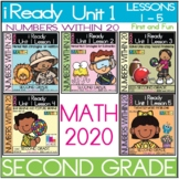 """IReady Math Complete Unit 1 Bundle """"Numbers Within 20""""  Second Grade"""