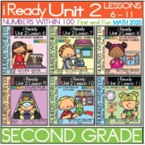 iReady Math Complete Unit 2 Bundle  Numbers Within 100, Second Grade