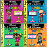 IReady Math Kindergarten Complete Unit 3 Bundle Comparing and Building Shapes