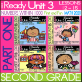 IReady Math Unit 3 (Part-1) Bundle- Numbers Within 1000 - Second Grade