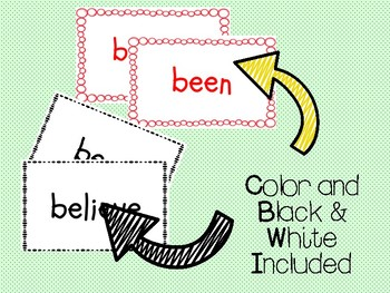 """IRLA Aligned """"1R"""" Sight Words Flash Cards - Color and B/W w/ Editable File"""