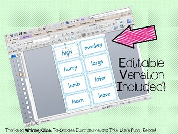 """IRLA Aligned """"2B"""" Sight Words Flash Cards - Color and B/W w/ Editable File"""