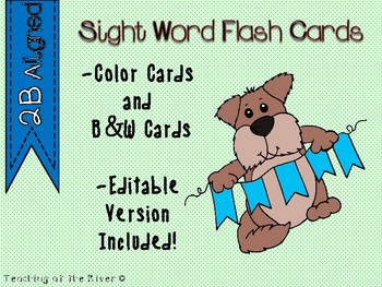 "IRLA Aligned ""2B"" Sight Words Flash Cards - Color and B/W"