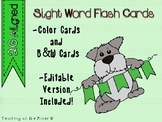 "IRLA Aligned ""2G"" Sight Words Flash Cards - Color and B/W"
