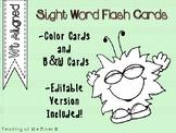 "IRLA Aligned ""Wt"" Sight Words Flash Cards  w/ Editable File"
