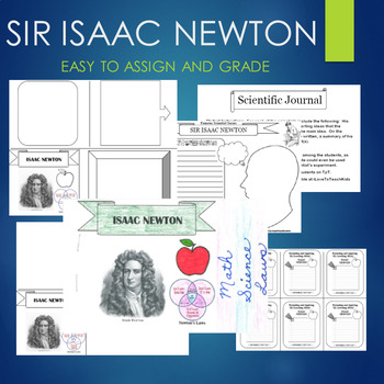 ISAAC NEWTON Biography Graphic Organizer Journal Template Research BUNDLE