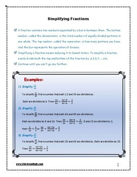ISEE Upper Level Math Prep: Simplifying Fractions