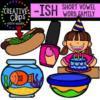 ISH Short I Word Family {Creative Clips Digital Clipart}