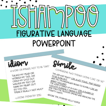 ISHAMPOO and Poetry - Literary Devices Powerpoint